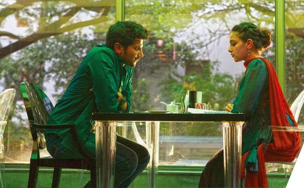 Dulquer and Nithya Menon in OK Kanmani
