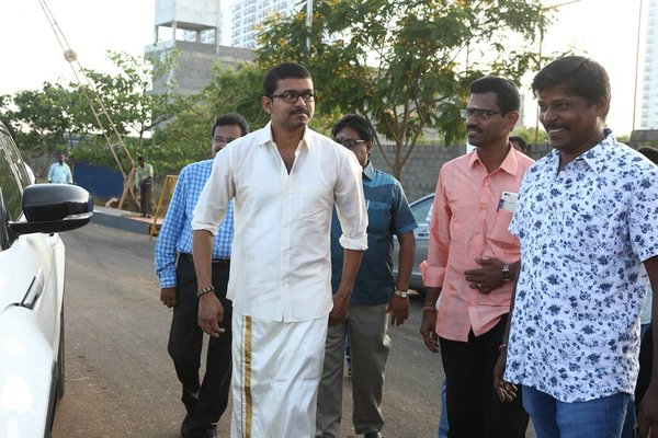 Vijay 60 Cast and Crew Details and Poojai Photos Poojai Tamil Movie