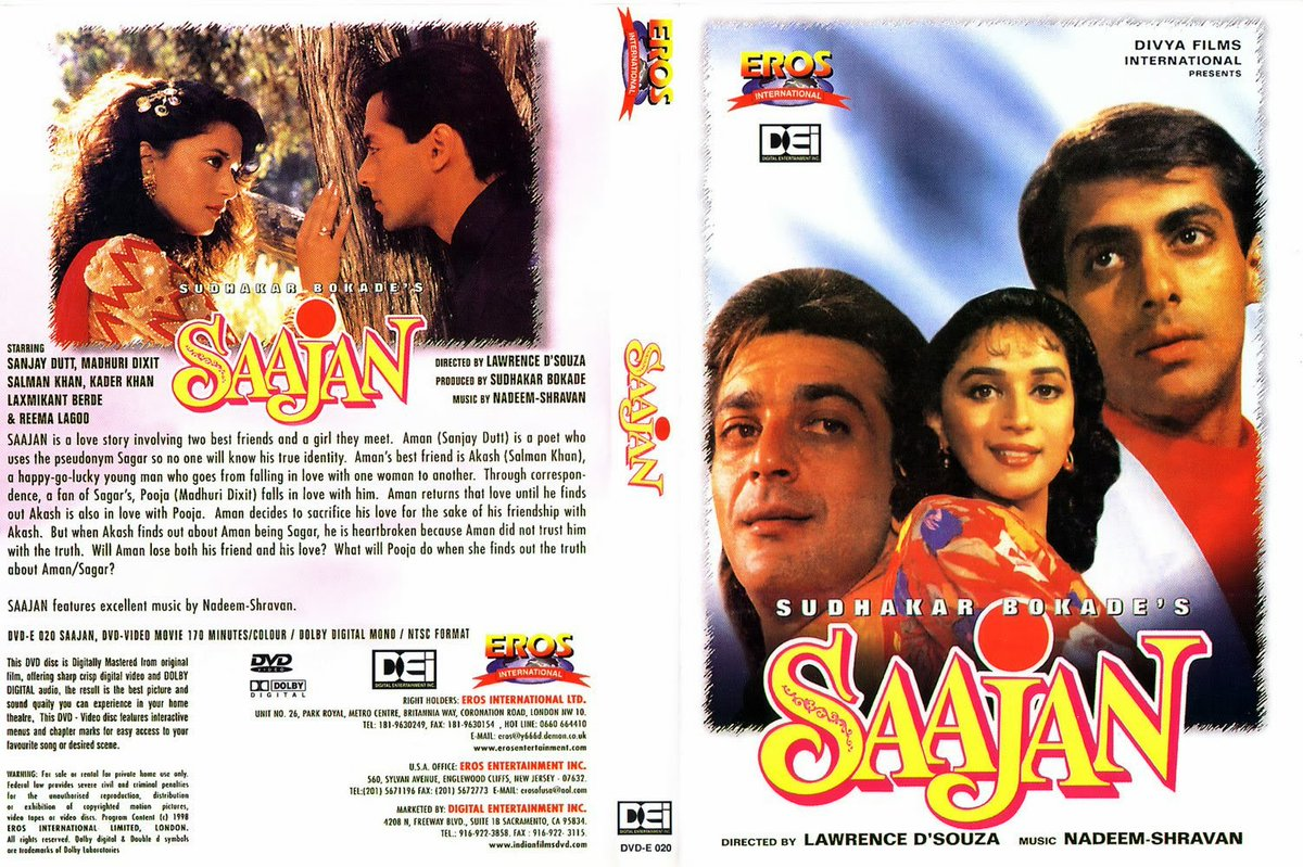 Saajan Hindi Movie Poster Salman Khan