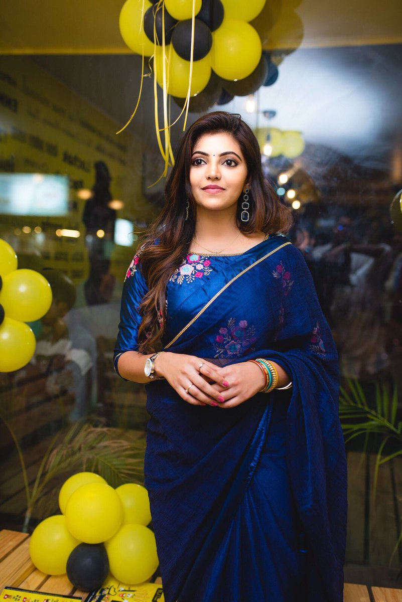 beauty in blue athulya ravi new photos