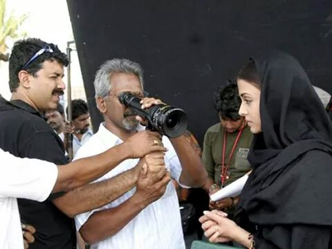 Maniratnam with Aishwariya and Rajeev Menon