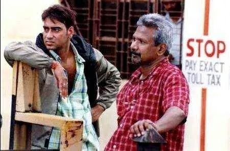Maniratnam with Ajay Devgan