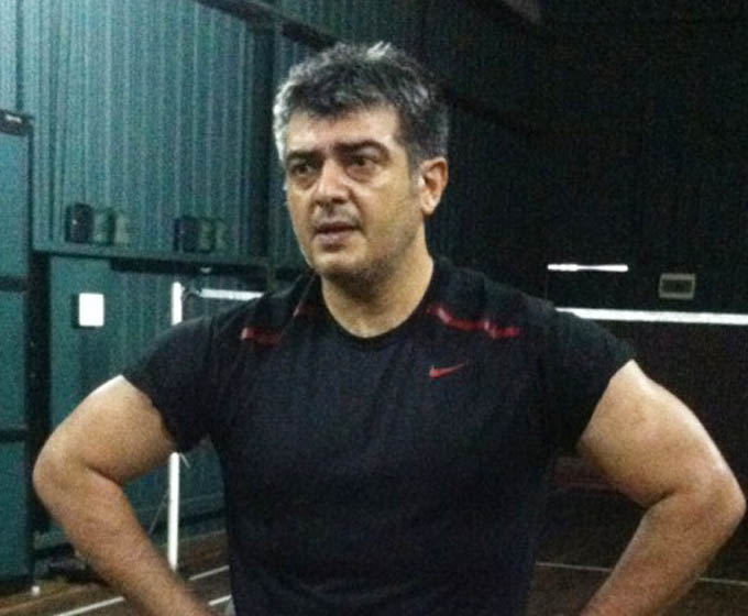 Ajith Kumar workout photo