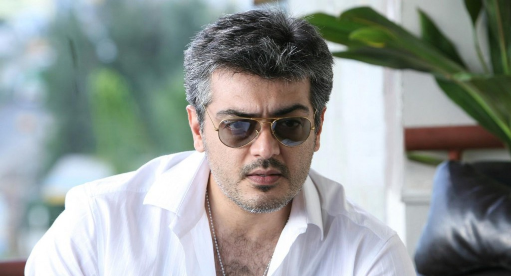Ajith Kumar in white shirt and sun glass