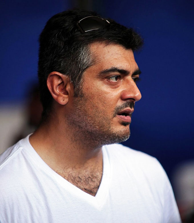 Ajith kumar in white t shirt