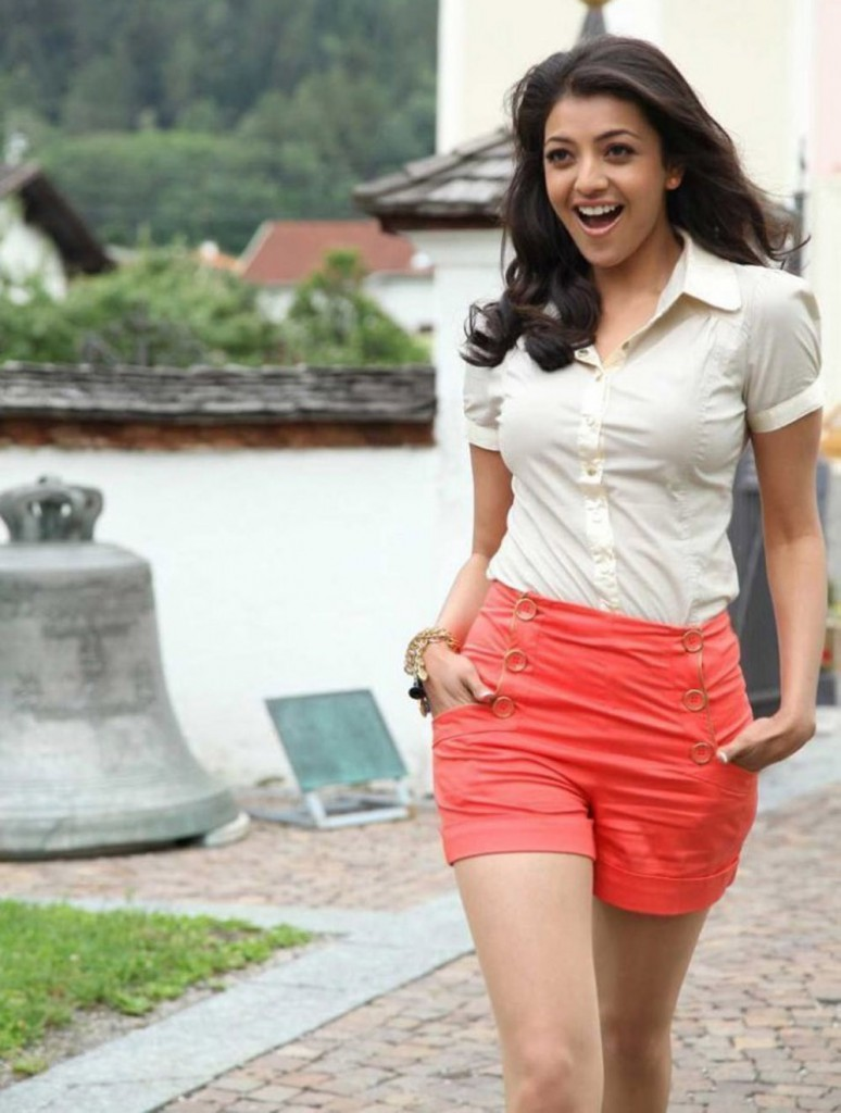 Kajal Aggarwal hot in white top
