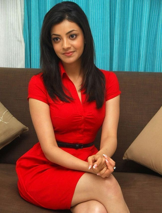 Kajal Aggarwal in red