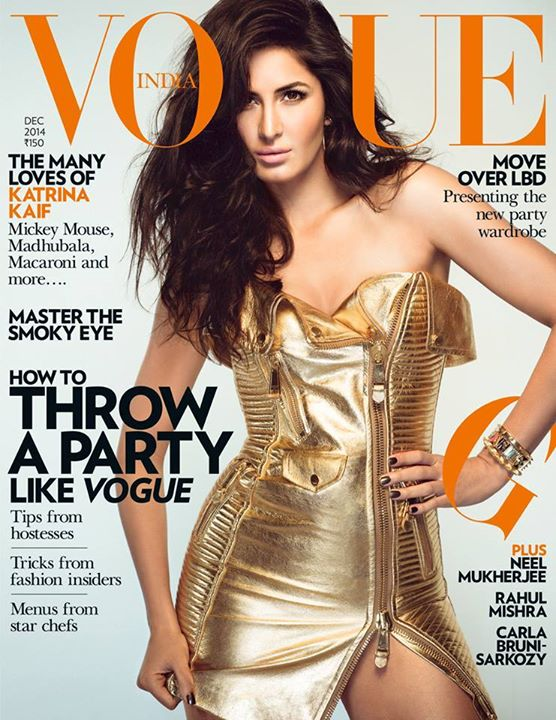 Katrina Kaif on front cover page of Vogue
