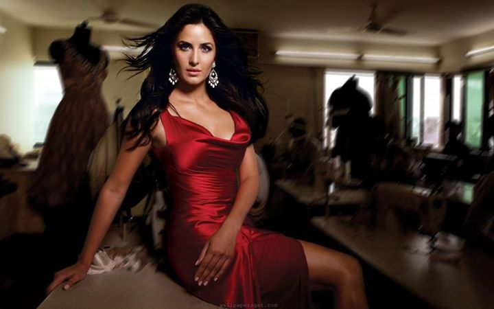 Katrina Kaif in red gown
