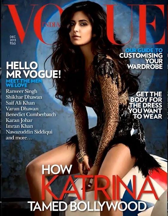 Katrina Kaif on front cover