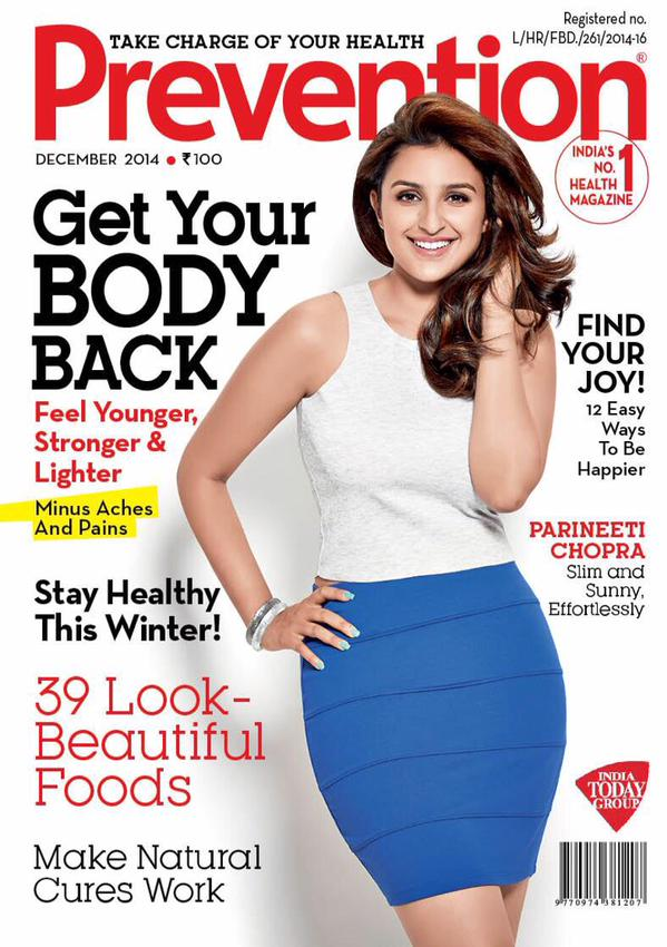 Parineeti Chopra on the front cover of a magazine