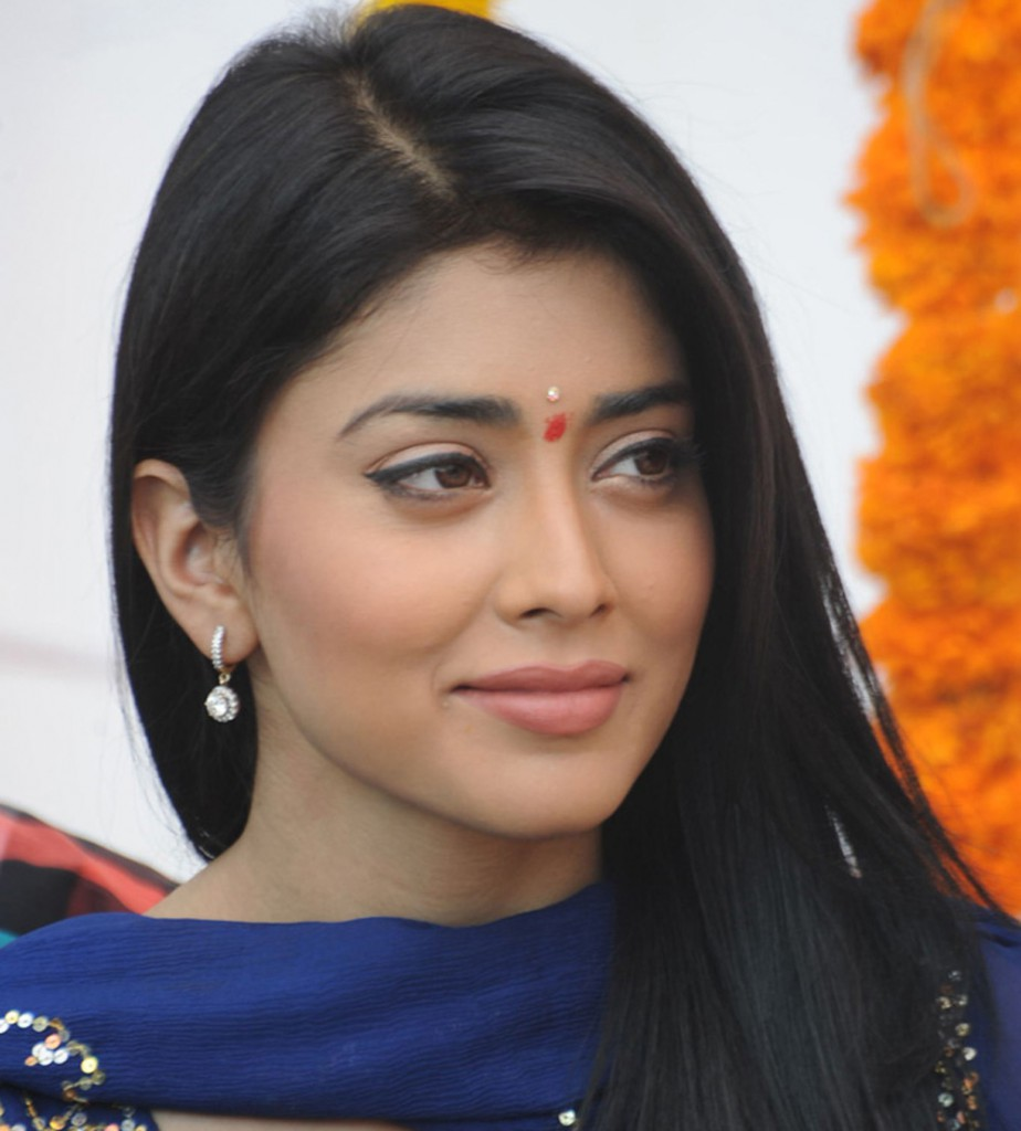 Shriya Saran in traditional homely look
