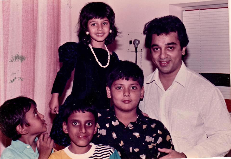 Shruthi Haasan with Kamal Haasan childhood photo