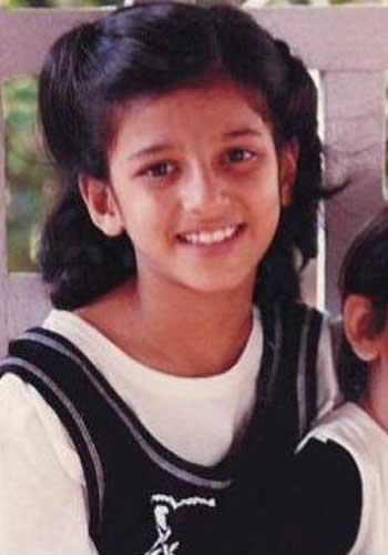 Shruti Haasan childhood photo