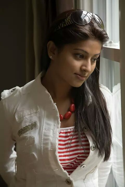Sneha real life photo hot in modern outfit