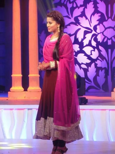 Sneha at a tv program