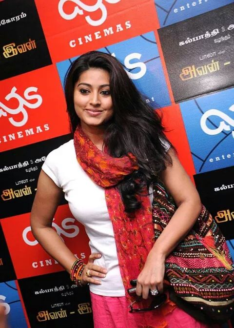 Sneha hot in white top