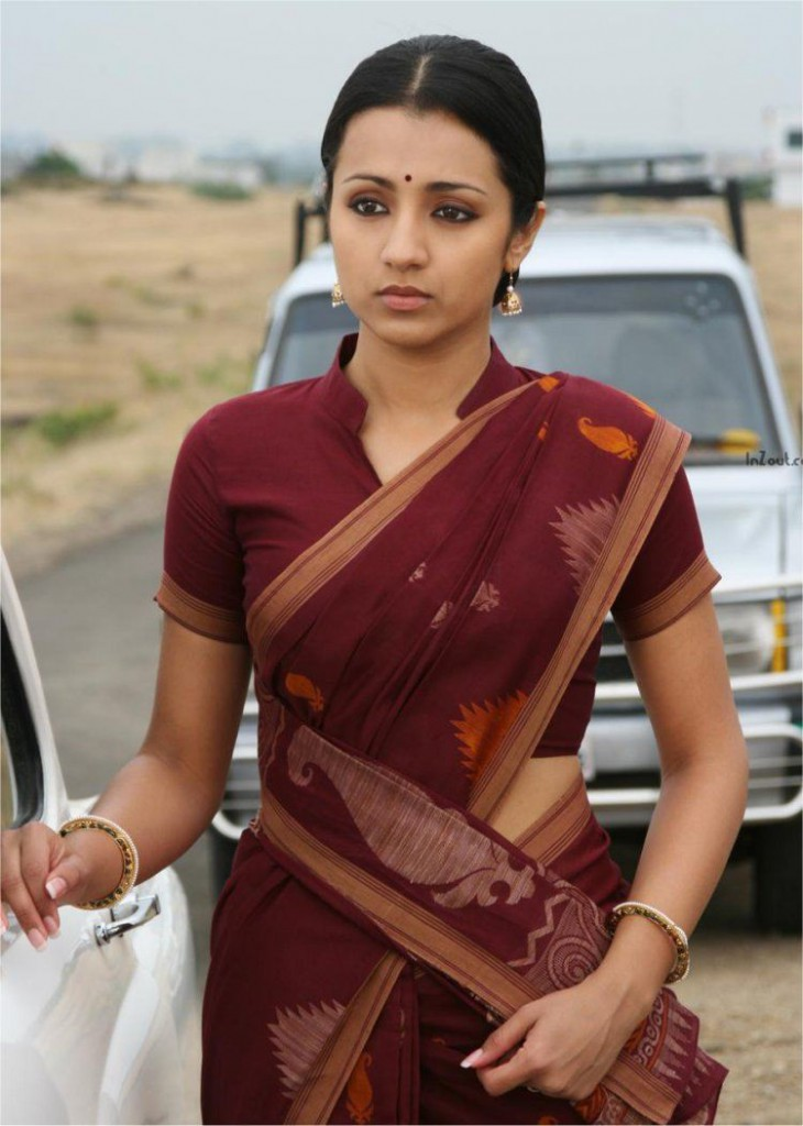 Trisha krishnan in traditional saree