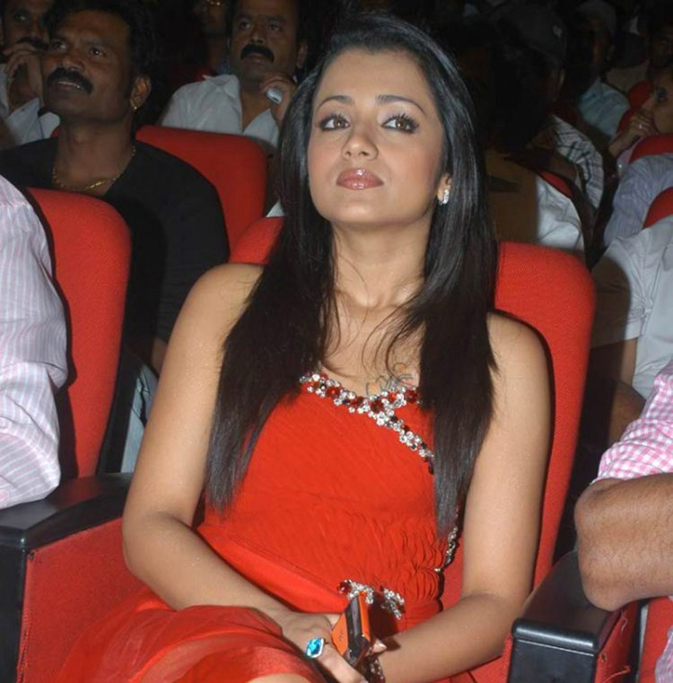 Trisha in Red in a function
