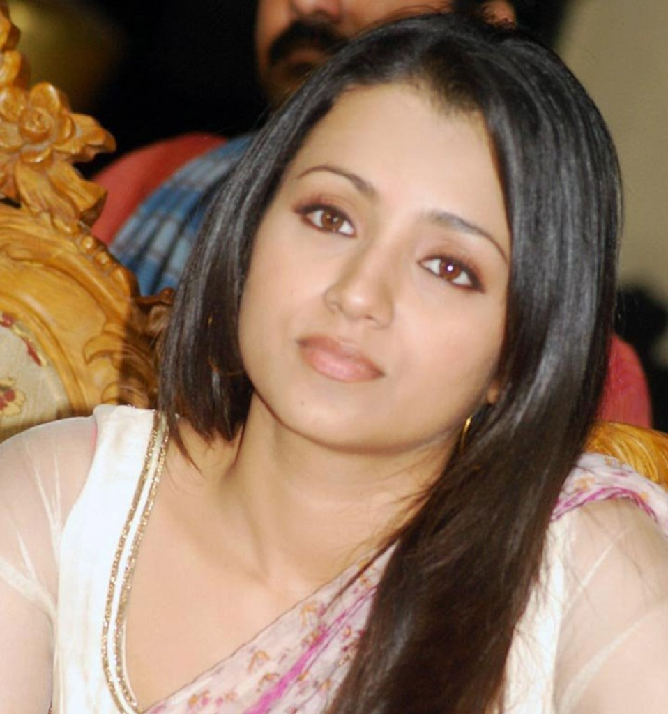 Trisha in simple white saree