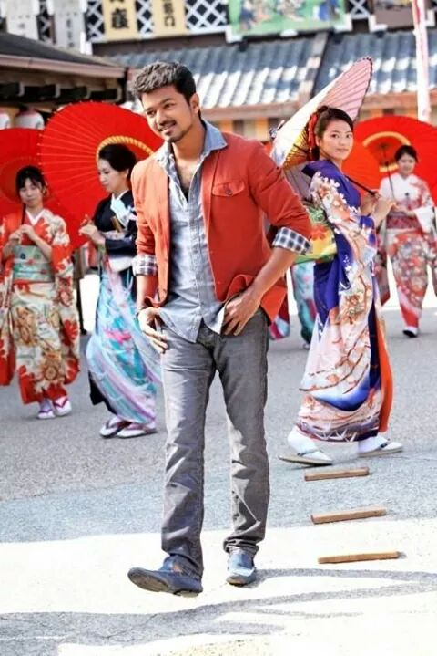 Vijay during a song shoot