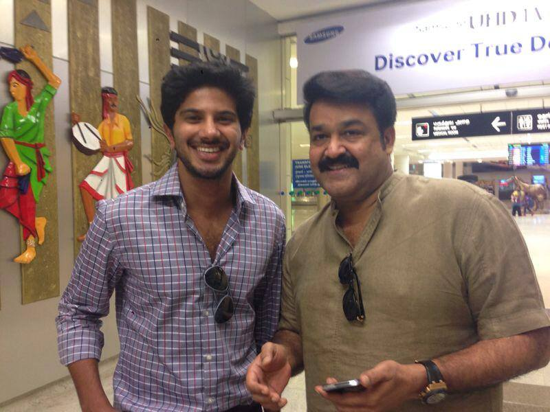 Dulquer Salmaan with Mohanlal