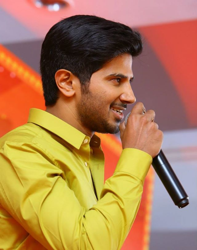Dulquer Salmaan speech on a stage