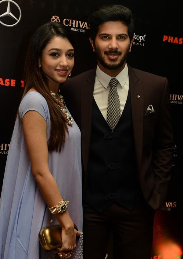Dulquer Salmaan with wife
