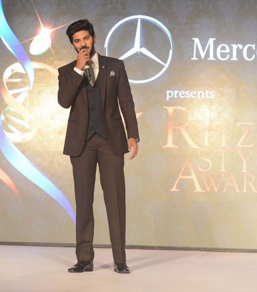 Dulquer Salmaan on stage
