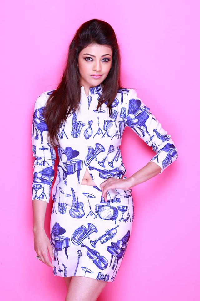 Kajal Aggarwal during a photoshoot