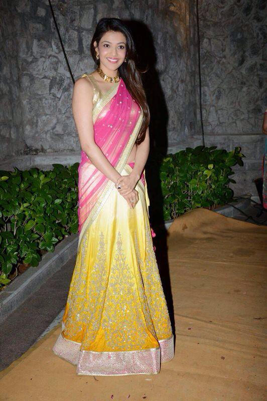 Kajal Aggarwal just before a function