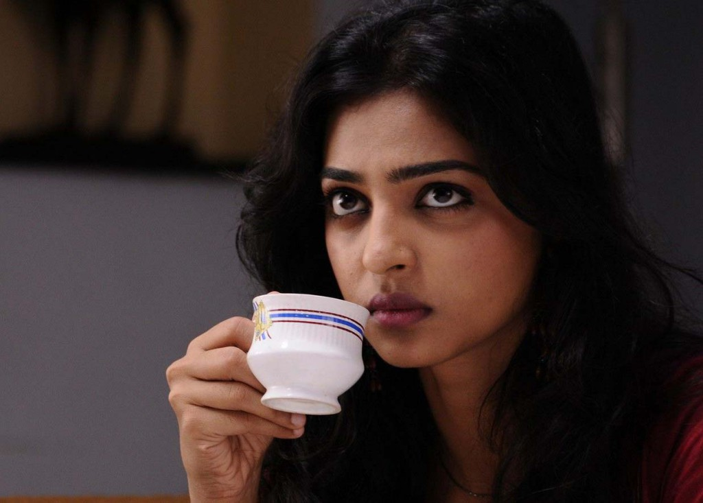 Radhika Apte taking a cup of tea
