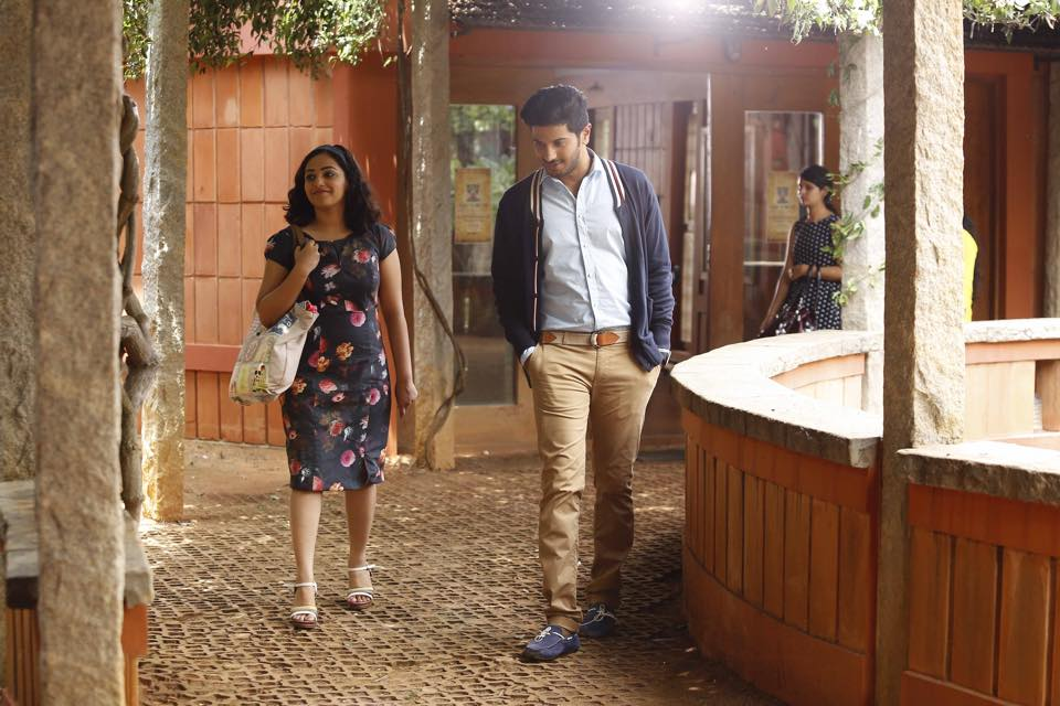 Nithya Menon walking with Dulquer Salmaan