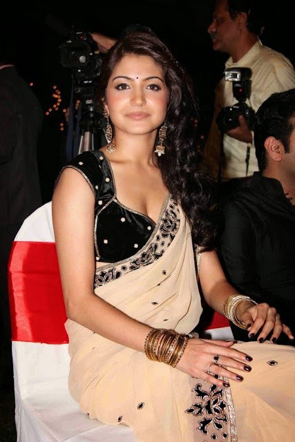 Anushka Sharma in saree for a film function