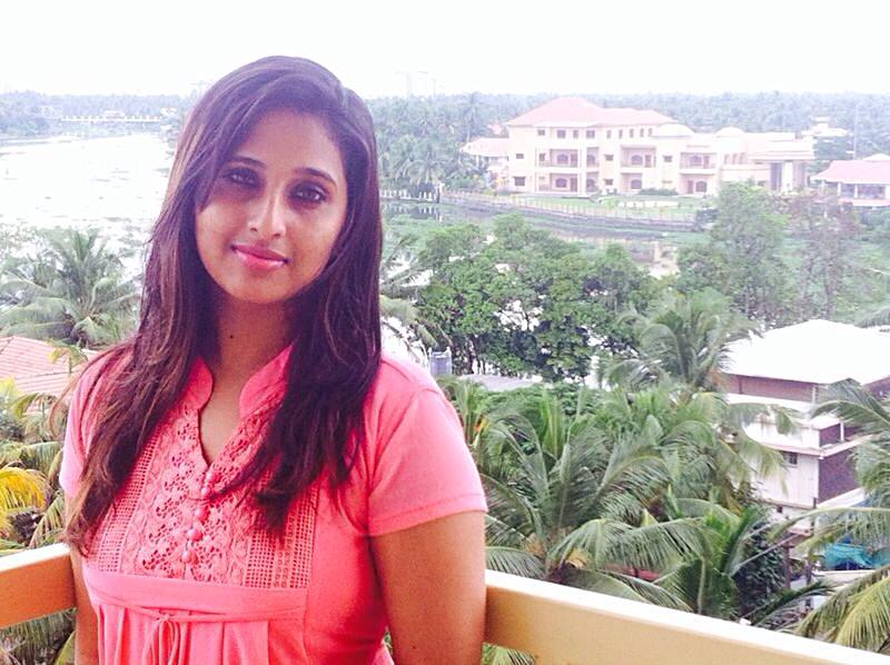 Jeena Raju on her balcony