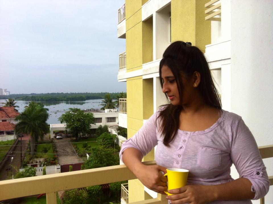 Balcony photo of Malayalam Actress Jeena Raju