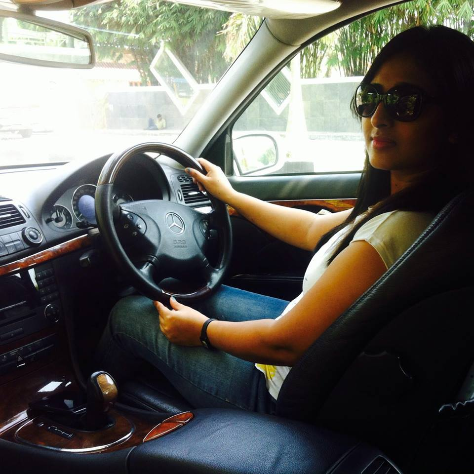 Jeena Raju driving Malayalam Actress