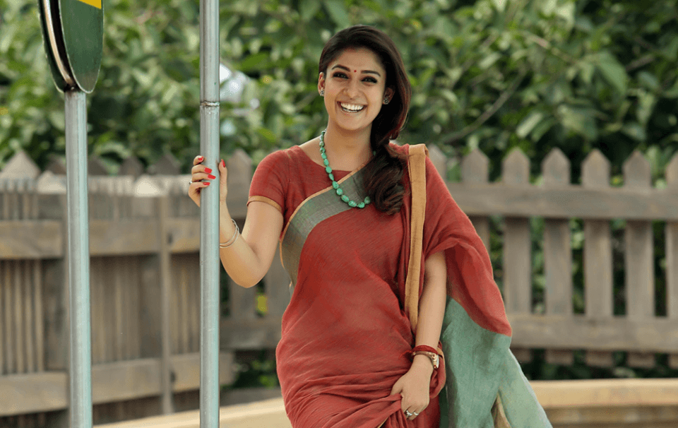 Nayanthara in saree Bhaskar The Rascal