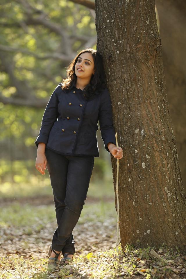 Nithya Menon posing for a photo