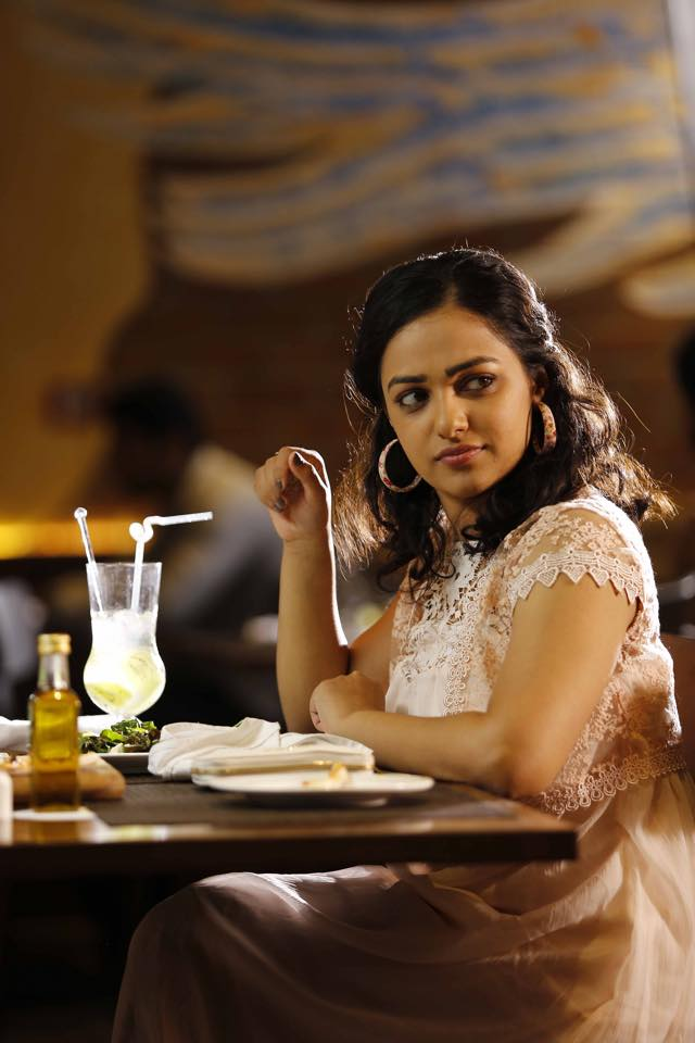 Nithya Menon in a coffee shop
