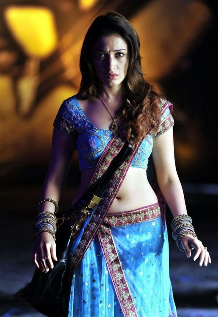 Tamannaah hot navel show in a song sequence