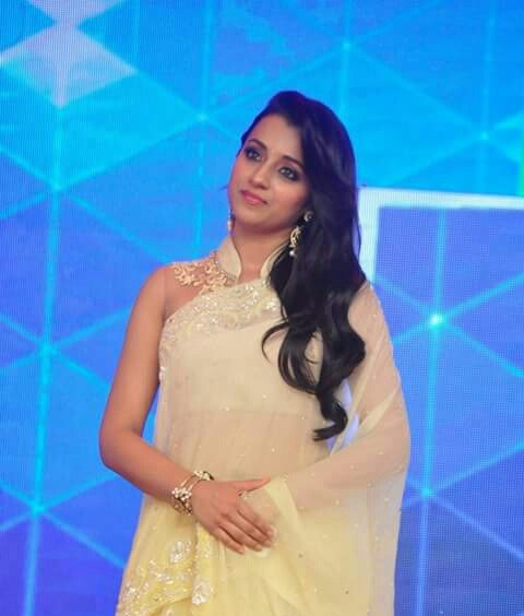 Trisha in white saree