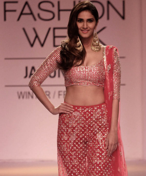 Vaani Kapoor during a fashion show