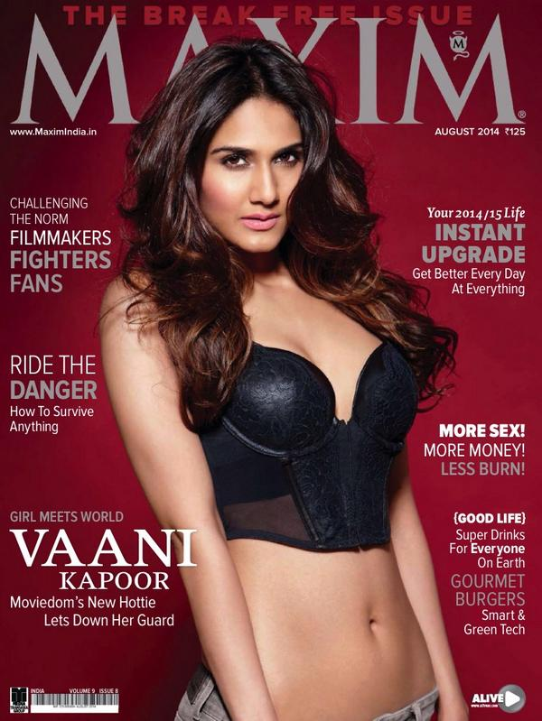 Vaani Kapoor in bikini on front cover