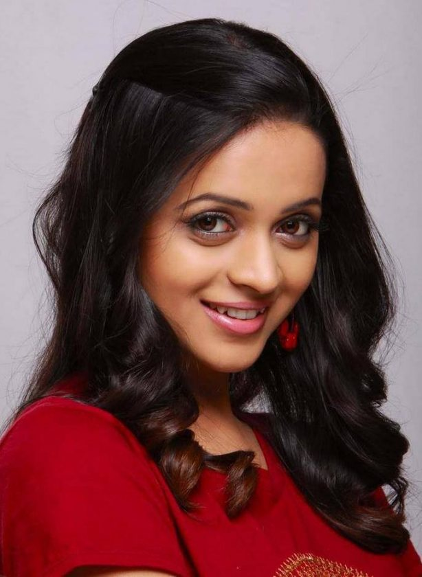 Bhavana Menon in Red top