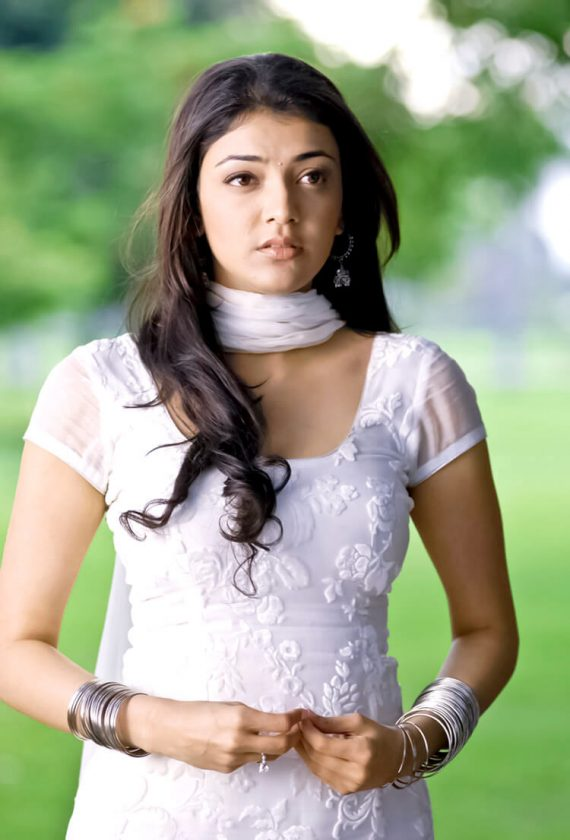 Hot Kajal Aggarwal in white