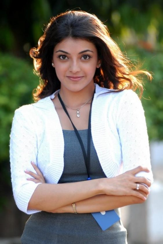 Kajal Aggarwal in white top