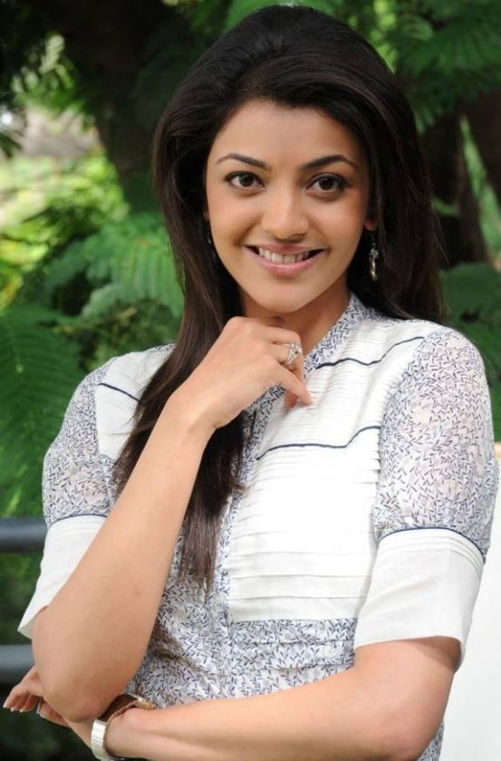 Kajal Aggarwal smiling at us