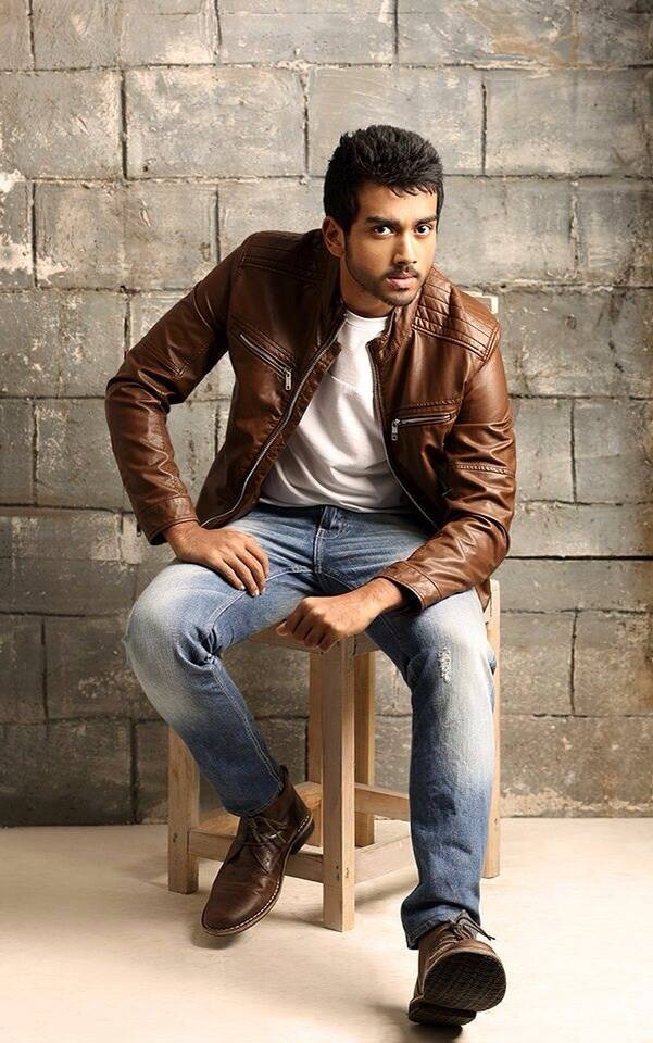 Kalidas Jayaram in leather jacket