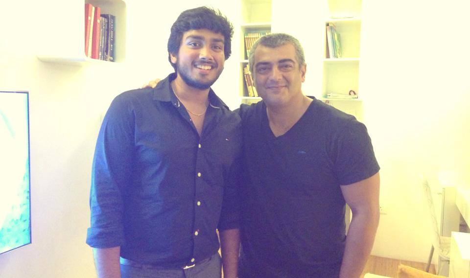 Kalidas Jayaram with Ajith Kumar
